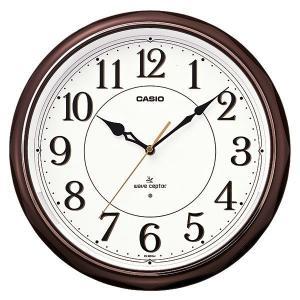 カシオ CASIO IQ-1051NJ-5JF アナログ 電波掛け時計 常時点灯ライト機能付き 濃茶|sophias