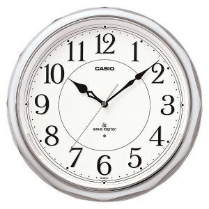 カシオ CASIO IQ-1051NJ-8JF アナログ 電波掛け時計 常時点灯ライト機能付き シルバー|sophias
