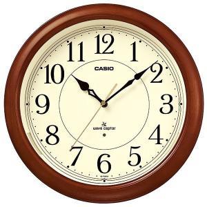 カシオ CASIO IQ-1150NJ-5JF アナログ 電波掛け時計 常時点灯ライト機能付き 濃茶木|sophias