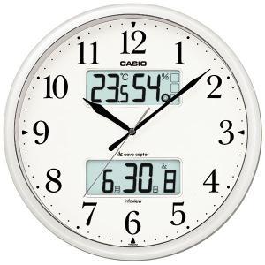 カシオ CASIO ITM-660NJ-8JF デジタル/アナログ 電波掛け時計 生活環境お知らせ機能搭載 パールシルバー|sophias