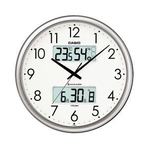 カシオ CASIO ITM-650J-8JF デジタル/アナログ 電波掛け時計 生活環境お知らせ機能搭載 シルバー|sophias