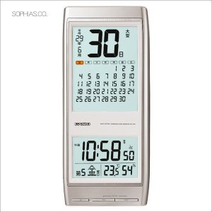 カシオ CASIO IDC-310J-8JF デジタル 電波掛け時計 野鳥さえずり時報 六曜カレンダー チタニウムシルバー|sophias