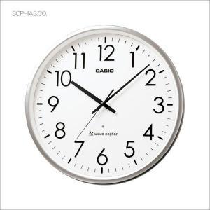 カシオ CASIO IQ-2000J-8JF アナログ 電波掛け時計 大型業務用 シルバー|sophias