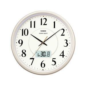 カシオ CASIO IC-1001J-9JF デジタル/アナログ 電波掛け時計 カレンダー表示 ライトシャンパンゴールド|sophias