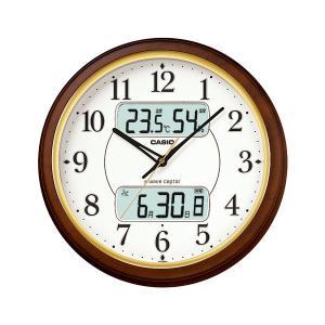 カシオ CASIO ITM-800NJ-5JF デジタル/アナログ 電波掛け時計 カレンダー表示・常時点灯ライト機能付き 濃茶木調|sophias
