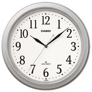 カシオ CASIO IQ-1005J-8JF アナログ 電波掛け時計 シルバー|sophias