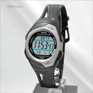 カシオ フィズ STR-300CJ-1JF ブラック 電池寿命10年モデル アスリート用腕時計 (長期保証3年付)|sophias