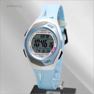 カシオ フィズ STR-300J-2CJF ブルー 電池寿命10年モデル アスリート用腕時計 (長期保証3年付)|sophias