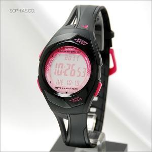 カシオ フィズ STR-300J-1BJF ピンク ラップ/スプリット最大60本メモリー アスリート用腕時計 (長期保証3年付)|sophias