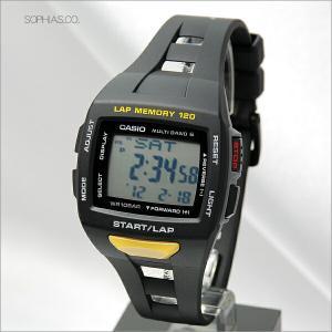 カシオ フィズ STW-1000-1JF ブラック マルチバンド6 電波ソーラー ランナー用腕時計 (長期保証3年付)|sophias