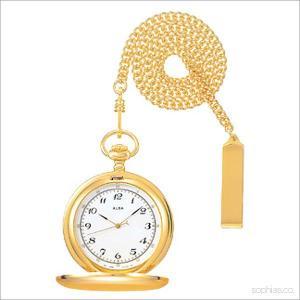 セイコー アルバ AABW146 ポケットウォッチ SEIKO ALBA ゴールド アラビア数字 懐中時計|sophias