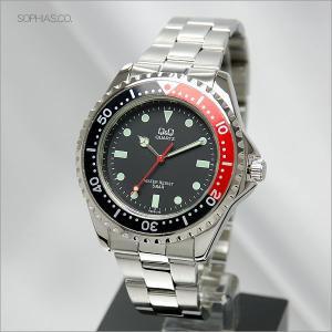 シチズン Q&Q V232-212 腕時計 逆回転防止機能付き回転ベゼル クォーツ メンズ腕時計|sophias