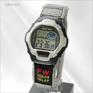シチズン Q&Q AA92-9910 腕時計 FREE WAY ワールドタイム デジタルクォーツ メンズ腕時計|sophias