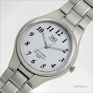 シチズン Q&Q H976-204 腕時計 アナログソーラウォッチ 電池交換不要 ホワイト クォーツ メンズ腕時計|sophias