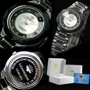ペアウォッチ ジョン・ハリソン JH-CCM001BS/JH-CCL001BS J.HARRISON クォーツ 天然ダイヤモンド付 セラミック シルバー ペア腕時計|sophias|03