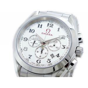 オメガ OMEGA シーマスター アクアテラ 自動巻 メンズ クロノ 腕時計 23110445002001X3|sophias