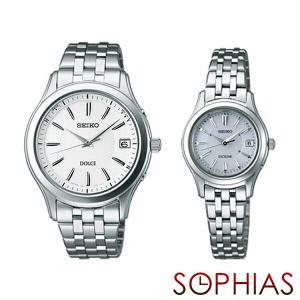 セイコー ペア腕時計 SADZ123 & SWCW023 ドルチェ & エクセリーヌ ソーラー電波時計 ペアウォッチ (長期保証10年付)|sophias