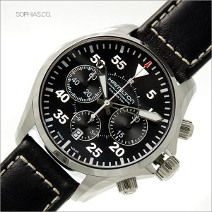 HAMILTON ハミルトン H64666735 腕時計 HAKI AVIATION PILOT AUTO CHRONO 自動巻 メンズ (長期保証3年付)|sophias