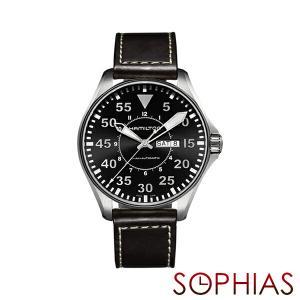 HAMILTON ハミルトン H64715535 腕時計 KHAKI AVIATION PILOT AUTO 自動巻 メンズ (長期保証3年付)|sophias