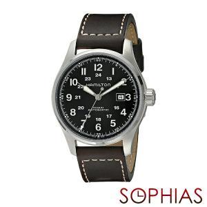 HAMILTON ハミルトン H70625533 腕時計 カーキ フィールド オフィサー 自動巻 レザー (長期保証3年付)|sophias