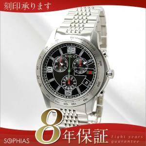 グッチ GUCCI 腕時計 YA126205 G タイムレス クロノグラフ ブラック メンズ (長期保証8年付)|sophias