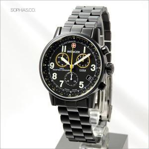ウェンガー 腕時計 70705XL 海外モデル COMMANDO コマンド クロノグラフ メタル メンズ (SB) (長期保証3年付)