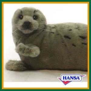 ●オーストラリアのhansa社が制作したARCTIC(北極・南極)シリーズのあざらしのリアルな動物ぬ...