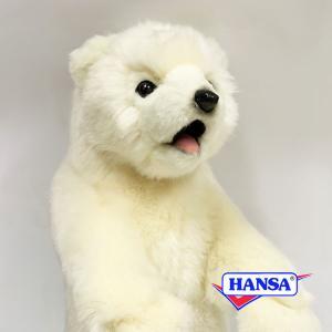 HANSA ハンサ ぬいぐるみ 5438 仔シロクマ 46 POLAR BEAR CUB STANDING|soprano
