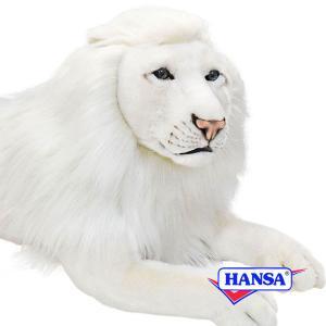 HANSA ハンサ ぬいぐるみ 6364 ホワイトライオン 65 WHITE LION MALE soprano
