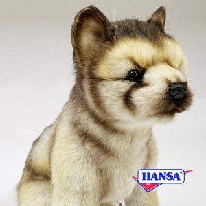 HANSA ハンサ ぬいぐるみ 6740 オオカミの仔 30 WOLF SITTING soprano