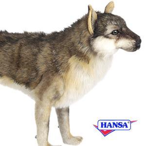 HANSA ハンサ ぬいぐるみ 6760 オオカミ60 WOLF STANDING soprano