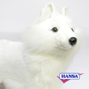 HANSA ハンサ ぬいぐるみ 6824 シロキツネ 40 SNOW FOX STANDING soprano