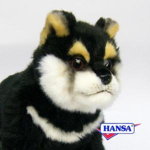 HANSA ハンサ ぬいぐるみ 7249 黒柴 仔 22 DOG SHIBA PUP soprano