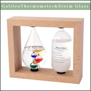 温度計&ストームグラス 天気管 サイエンス インテリア 科学 結晶 天候予測器 オブジェ フィッツイロの気象計|soprano
