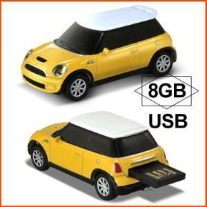 AUTODRIVE オートドライブ USBメモリー Mini Cooper S ミニクーパー S イエロー USBメモリ 8GB|soprano