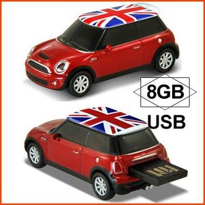 AUTODRIVE オートドライブ USBメモリー Mini Cooper S ミニクーパー S レッド UK USBメモリ 8GB|soprano