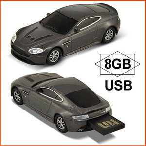 AUTODRIVE オートドライブ USBメモリー Aston Marten V12 Vantage アストンマーチン V12 ヴァンテージ シルバー USBメモリ 8GB|soprano