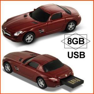 AUTODRIVE オートドライブ USBメモリー Mercedes Benz SLS AMG メルセデス ベンツ SLS AMG レッド USBメモリ 8GB|soprano