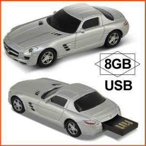 AUTODRIVE オートドライブ USBメモリー Mercedes Benz SLS AMG メルセデス ベンツ SLS AMG シルバー USBメモリ 8GB|soprano