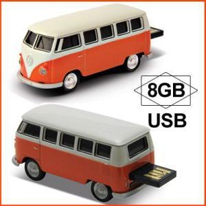 AUTODRIVE オートドライブ USBメモリー Volkswagen Classical Bus フォルクスワーゲン クラシカルバス オレンジ USBメモリ 8GB|soprano