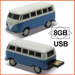 AUTODRIVE オートドライブ USBメモリー Volkswagen Classical Bus フォルクスワーゲン クラシカルバス ブルー USBメモリ 8GB|soprano