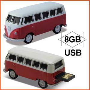 AUTODRIVE オートドライブ USBメモリー Volkswagen Classical Bus フォルクスワーゲン クラシカルバス レッド USBメモリ 8GB|soprano