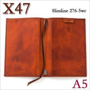 X47 ドイツ製 システム手帳 A5 スリムライン ビンテージコニャック ライトブラウン|soprano