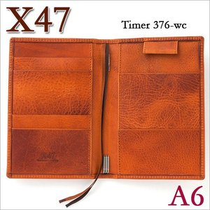 X47 ドイツ製 システム手帳 A6 タイマー ビンテージコニャック ライトブラウン|soprano