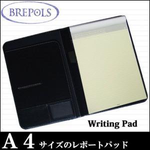 BREPOLS ブレポルス パレルモ ライティングパッド A4 ブラック レポートパッドホルダー レポートカバー|soprano