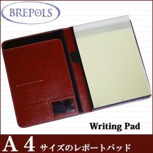 BREPOLS ブレポルス パレルモ ライティングパッド A4 ブラウン レポートパッドホルダー レポートカバー|soprano