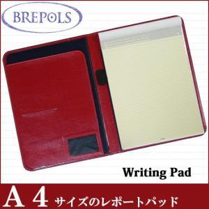 BREPOLS ブレポルス パレルモ ライティングパッド A4 レッド レポートパッドホルダー レポートカバー|soprano