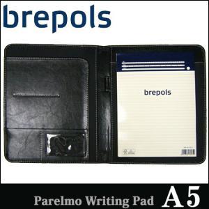 BREPOLS ブレポルス パレルモ ライティングパッド A5 ブラック レポートパッドホルダー レポートカバー|soprano