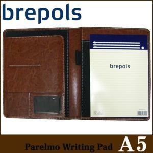 BREPOLS ブレポルス パレルモ ライティングパッド A5 ブラウン レポートパッドホルダー レポートカバー|soprano