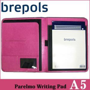 BREPOLS ブレポルス パレルモ ライティングパッド A5 ピンク レポートパッドホルダー レポートカバー|soprano